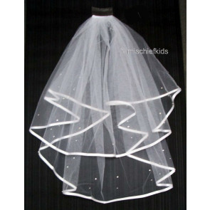 Satin Edge Communion Veil