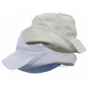 Little Darlings LD2243 Hat CHAMBRAY BLUE or BEIGE STRIPE