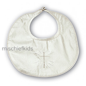 Sarah Louise 003311 Ivory Silk Holy Cross Bib