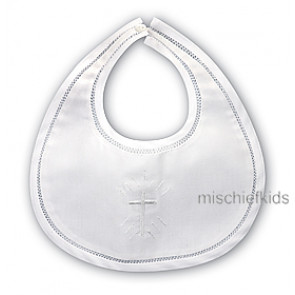 Sarah Louise 003309 Holy Cross Poly/Cotton Bib