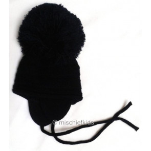 Satila PURL knit Huge Pom Hat NAVY
