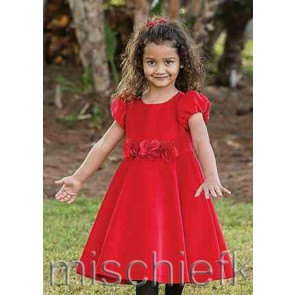 Sarah Louise 9137 Red Dotty Swingy Dress