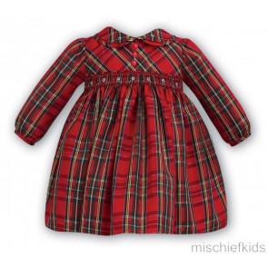 Sarah Louise 9176 Dress classic tartan smocked taffeta dress
