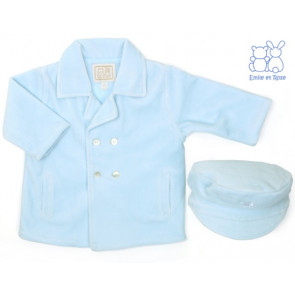 Emile et Rose E9210 BYRON Boys Pale Blue Double Breasted Padded Jacket