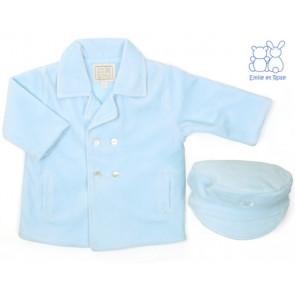 Emile et Rose E9210 BYRON Boys Pale Blue Double Breasted Padded Jacket