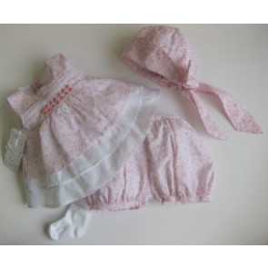 Coco CC4546 pink print Top Shorts Hat Socks Set
