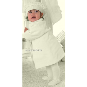 Emile et Rose E9204 BREE Cable Knitted Coat and Beret Set in IVORY or PINK