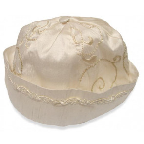 Collins and Hall CH011 Ivory Silk Bronze Braided Hat