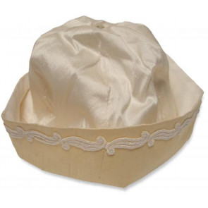 Collins and Hall FC9003 Ivory and Gold Hat with Ivory Braid