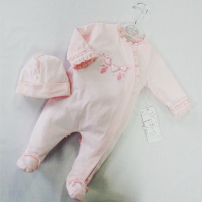 Coco CC4665 pink Onesie and Hat Set
