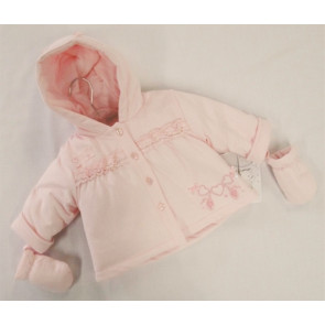 Coco CC4668 Pink Padded Jacket and Mittens Set