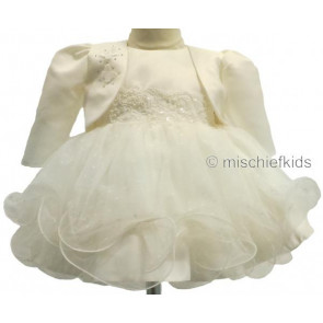 Frazer and James D926 Tulle and Satin Dress with Satin Butterfly Bolero Jacket