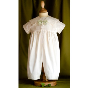 Angels and Fishes MICHAEL Pure Silk Bow Tie Romper IVORY