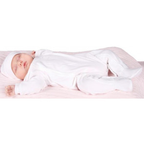 Emile et Rose 1575 DENNY Cotton Onesie Romper and Hat Set WHITE