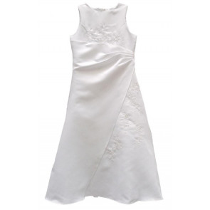 Frazer and James  FLEUR White Satin Communion Dress