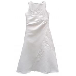 Frazer and James  FLEUR White Satin Communion Dress