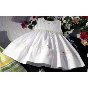 Sarah Louise 0109858 Smock Dress WHITE/MULTI