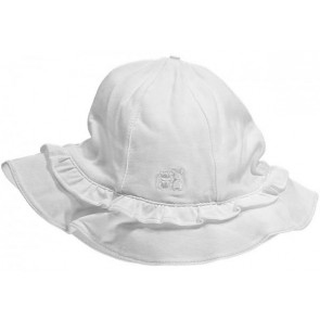 Emile et Rose 4652 EMMY White Cotton Frilly Sun Hat