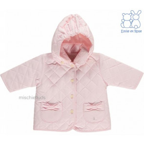Emile et Rose 29803 9166 Pink Padded Jacket and Mittens