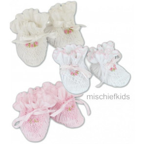 Sarah Louise 407 Smocked Booties