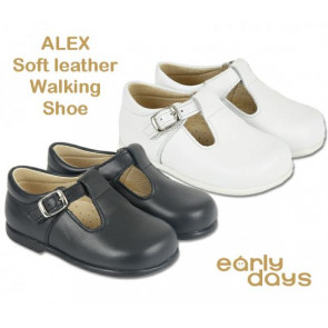 Early Days ALEX Leather Easy Walker T.Bar Shoe. Fit for a Prince