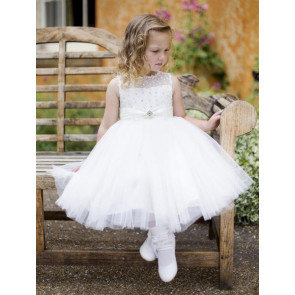 Couche Tot 3001 Full & Puffy Tulle Dress with Sparkles