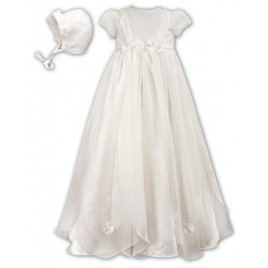 Sarah Louise 001050 Organza Petals Christening Gown IVORY
