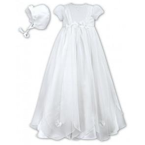 Sarah Louise 001050 Organza Petals Christening Gown WHITE