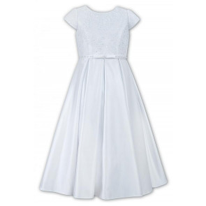 Sarah Louise 090007 EMILY Girls White Communion Dress ANKLE LENGTH