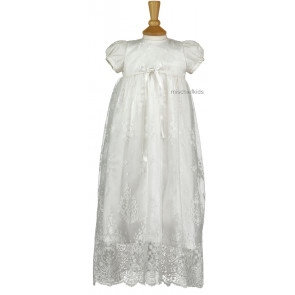 Emile et Rose Occasions 8308 SARAH Silk Lace Christening Gown