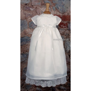 Emile et Rose Occasions 8309 SAFFRON Silk Lace Christening Gown