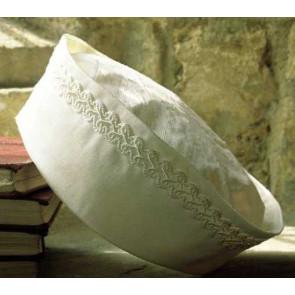 Little Darlings PB261 Ivory Silk Braid Christening Hat