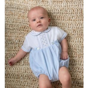 Sarah Louise 011515 blue gingham bubble suit