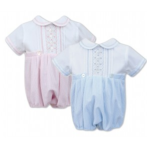 Sarah Louise 011515 Baby Boys & Girls Twins Bubble Rompers