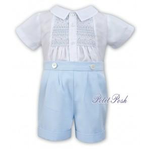Sarah Louise 011536 Boys Blue Buster Suit Romper