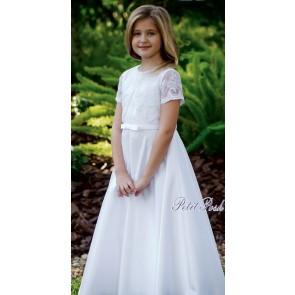 Sarah Louise 090051 BONNIE Lace top Communion Dress FULL LENGTH