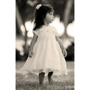 Sarah Louise ivory Petal Hem Dress