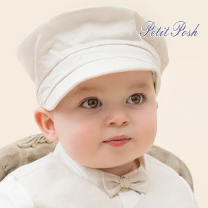 Emile et Rose Occasions 4717 Scott Boys Linen Baker Boy Hat
