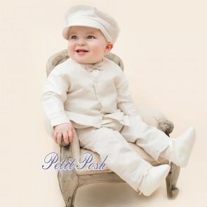 Emile et Rose Occasions 9505 STANLEY Linen Waistcoat, trouser & Bowtie with silk shirt set