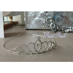 Little People T003 Girls Diamante Tiara Crown