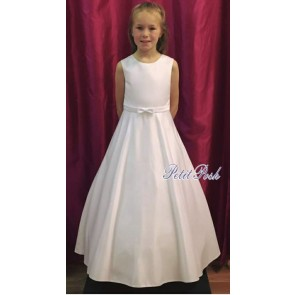 Sweet D 7142 Suzie Simple Satin Full Length Communion Dress