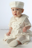 Little Darlings A204 Edward Silk Puritan Christening Romper