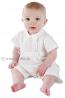Little Darlings A5203 TRISTAN White Cotton Romper