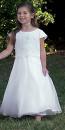 090001 White Beaded Communion Dress