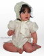 Little Darlings G9011 Pure Silk Bubble Romper